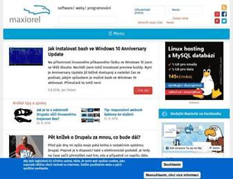 maxiorel.cz screenshot
