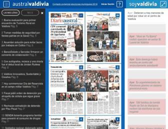 Main page screenshot of australvaldivia.cl