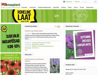 Main page screenshot of hansaplant.ee
