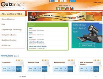 quiz-magic.com screenshot