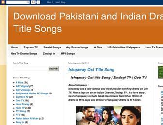 pakdramamp3.blogspot.com screenshot