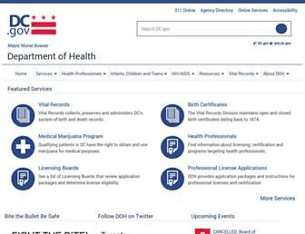 dchealth.dc.gov screenshot