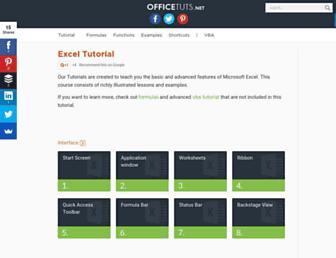 excel.officetuts.net screenshot