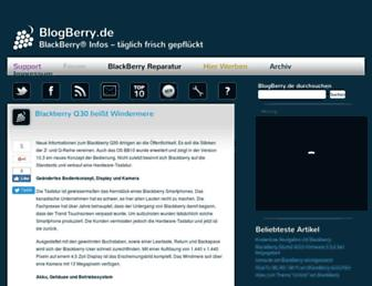 Main page screenshot of blogberry.de
