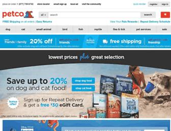 petco.com screenshot