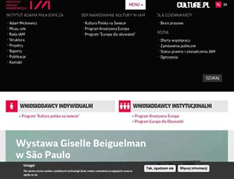 Main page screenshot of iam.pl