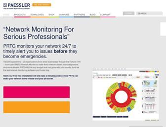 Thumbshot of Paessler.com