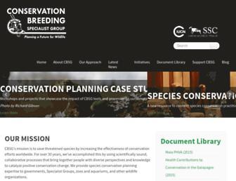 Main page screenshot of cbsg.org