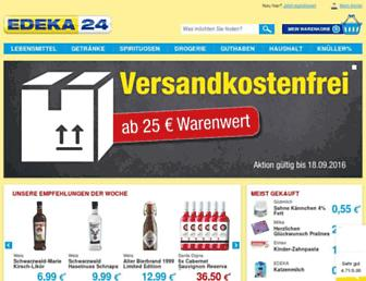 Main page screenshot of edeka24.de