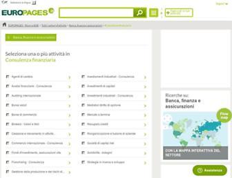 Main page screenshot of consulenza-finanziaria.europages.it