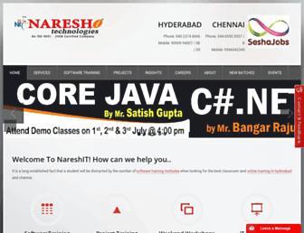 nareshit.in screenshot