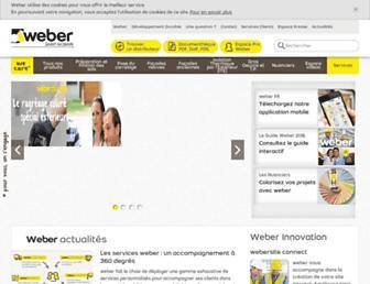 weber.fr screenshot