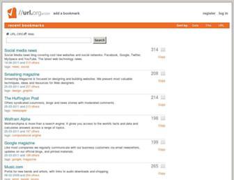 Main page screenshot of url.org