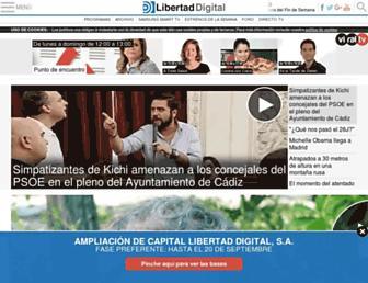 Main page screenshot of libertaddigital.tv