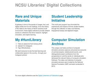 d.lib.ncsu.edu screenshot