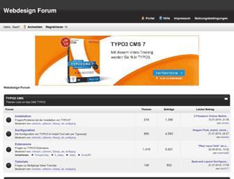 Main page screenshot of webdesign-forum.net