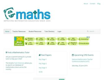 Main page screenshot of emaths.co.uk