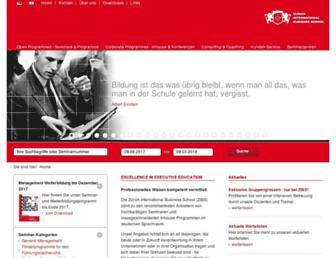 Main page screenshot of zibs.ch