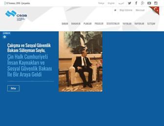 Main page screenshot of csgb.gov.tr