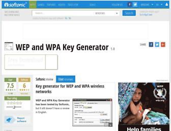 wep-and-wpa-key-generator.en.softonic.com screenshot