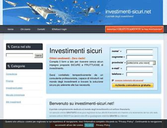 Main page screenshot of investimenti-sicuri.net