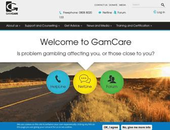 Thumbshot of Gamcare.org.uk