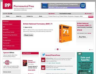 pharmpress.com screenshot