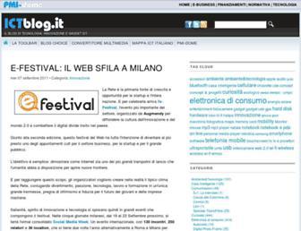 Main page screenshot of ictblog.it