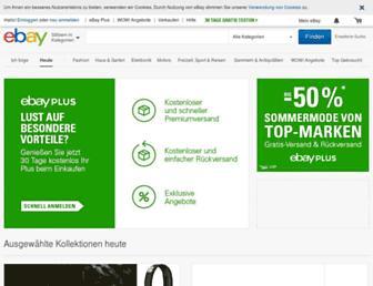 m.ebay.de screenshot