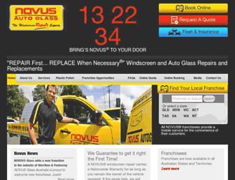 novusautoglass.com.au screenshot