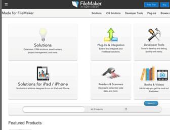 solutions.filemaker.com screenshot