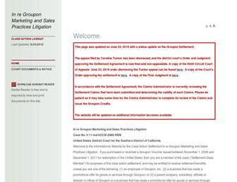 Thumbshot of Grouponvouchersettlement.com