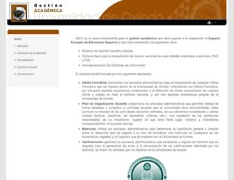 sies.uniovi.es screenshot