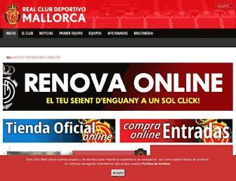 rcdmallorca.es screenshot