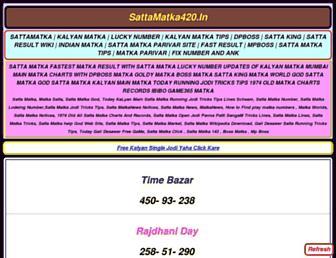 sattamatka420.in screenshot