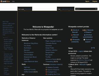 Thumbshot of Wowpedia.org