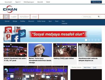 Main page screenshot of cihan.com.tr
