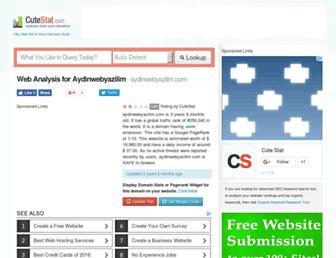 aydinwebyazilim.com.cutestat.com screenshot
