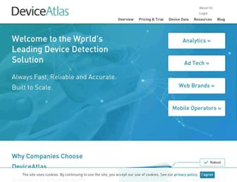 deviceatlas.com screenshot