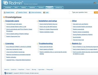 support.radmin.com screenshot