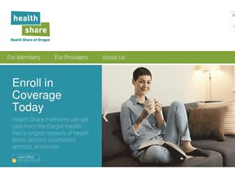 healthshareoregon.org screenshot