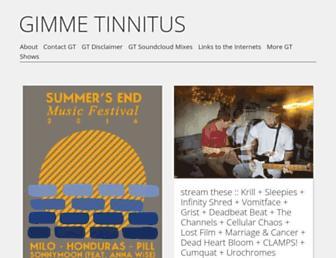 gimmetinnitus.com screenshot