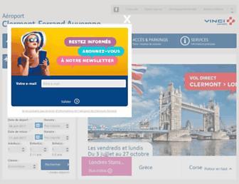 clermont-aeroport.com screenshot