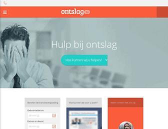 Main page screenshot of ontslag.nl