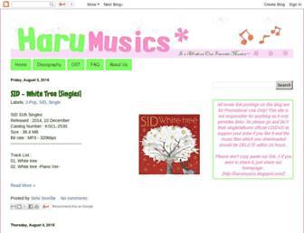harumusics.blogspot.com screenshot