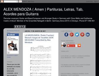 alexmendozaguitarraperu.blogspot.com screenshot
