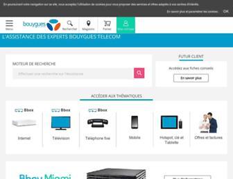 assistance.bouyguestelecom.fr screenshot