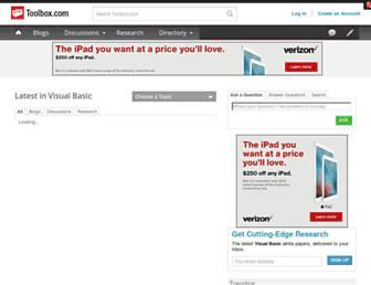 visualbasic.ittoolbox.com screenshot