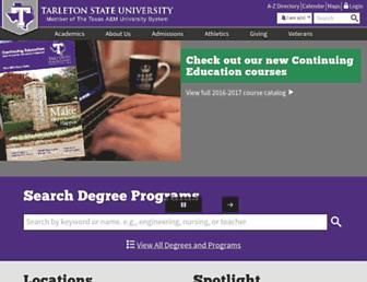 tarleton.edu screenshot