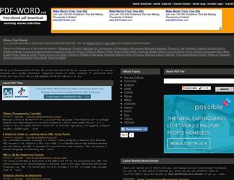 Main page screenshot of pdf-word.net